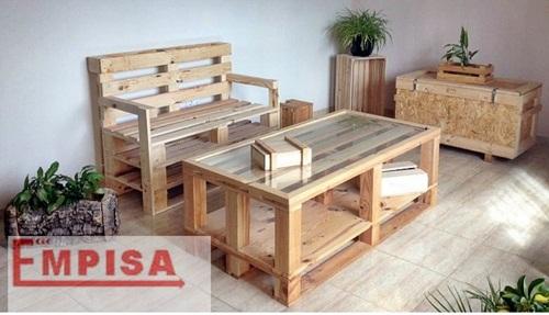 Pallets de madera y cajas de fruta para decoracin una tendencia en