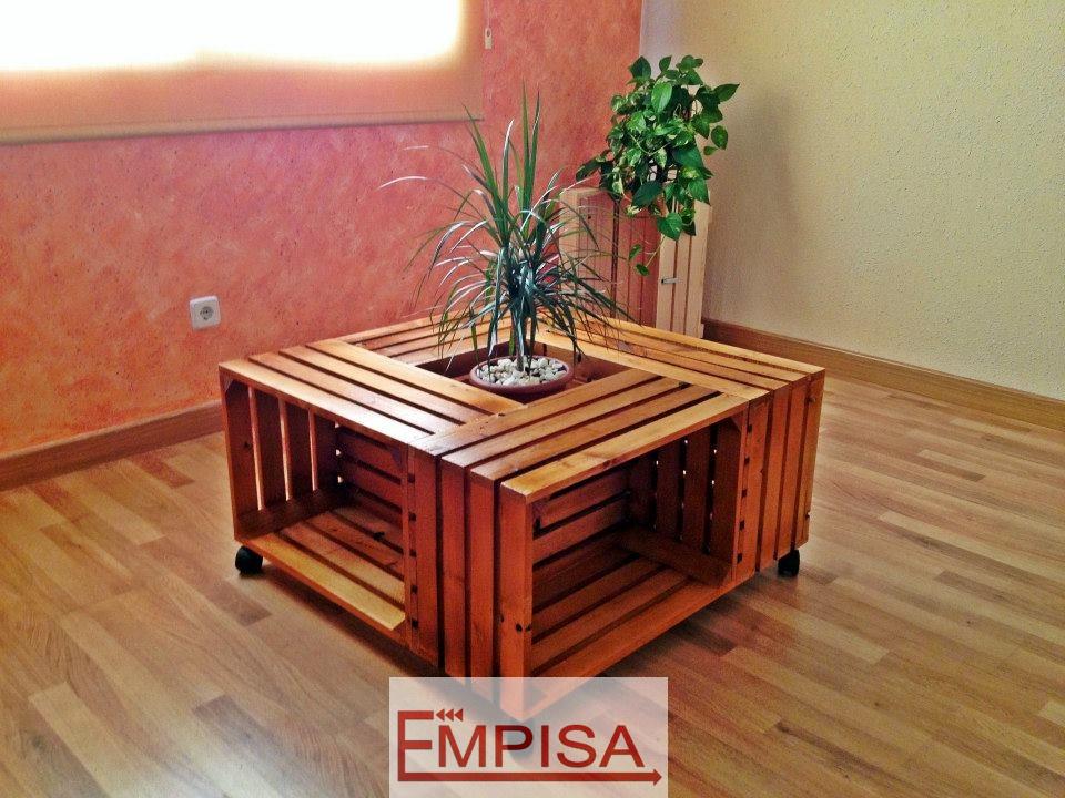 mesa de centro con caja de frutas - Cajas Fruta