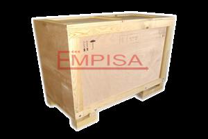 Embalaje de madera desmontable con tornillos.