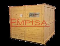 Embalaje de madera con sello térmico de identificación de NIMF-15