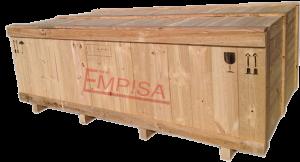 Embalaje de madera para envío marítimo