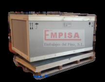 Embalaje de madera con tratamiento fitosanitario