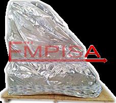 Bolsa de aluminio termosellada.