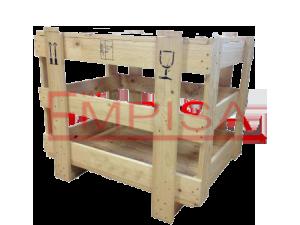 Jaula de madera estándar