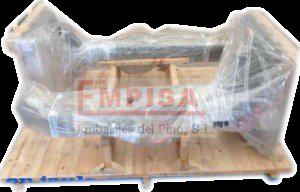 Base de madera con apoyos