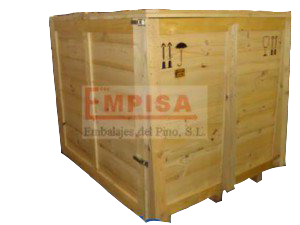 Embalaje de madera en tabla para envio nacional
