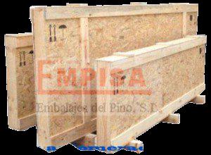 Embalajes estrechos de madera en tablero de OSB