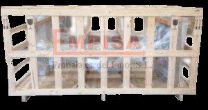 Jaula de embalaje de madera para transporte terrestre