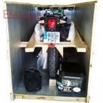Embalado interior de una moto
