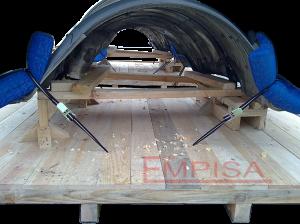 Base de madera para embalaje