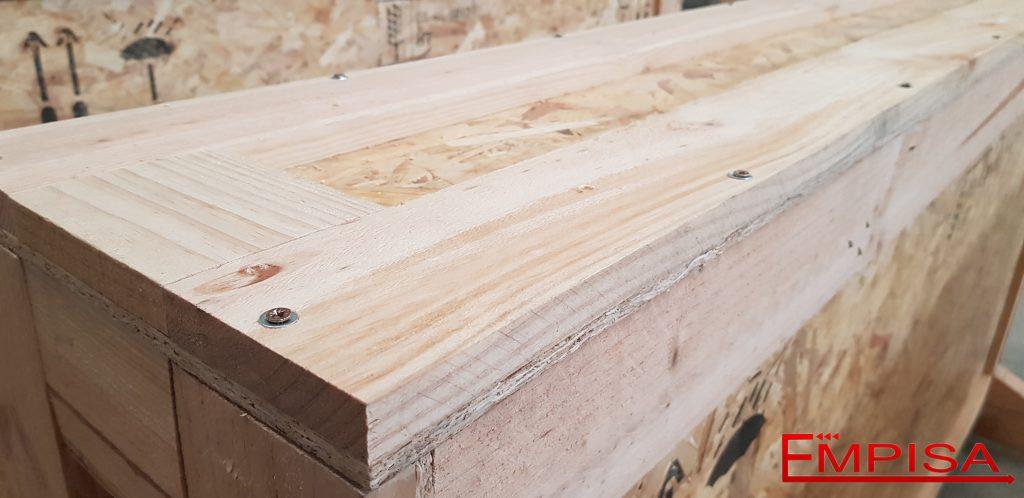 Tapas embalajes madera atornilladas